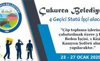 Çukurca Belediyesi 4 Geçici Statü İşçi Alacak