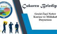 Belediyemize Geçici İşçi alımında Kura ve Mülakat duyurusu